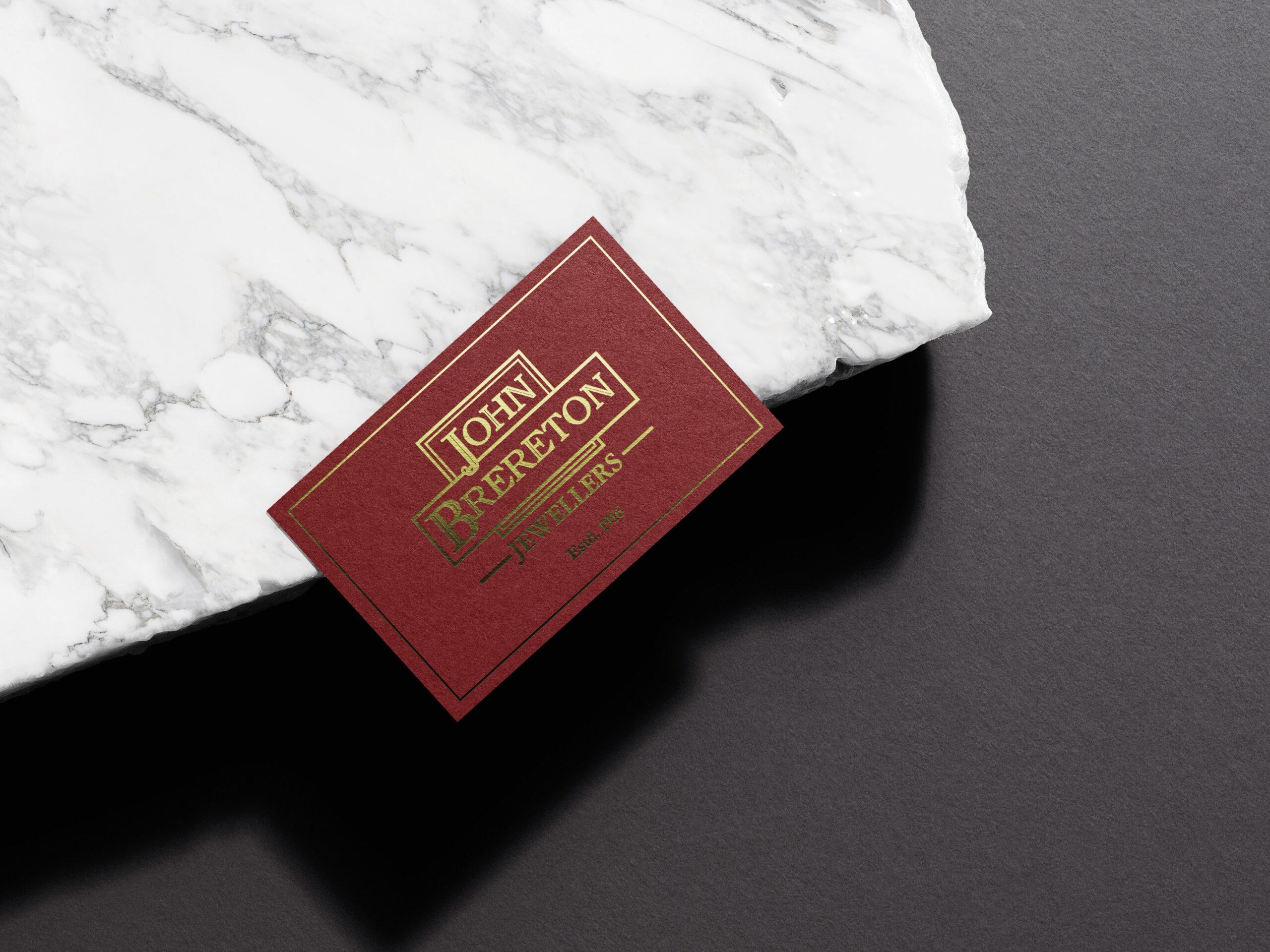 Golf Foil Stamped Business Card