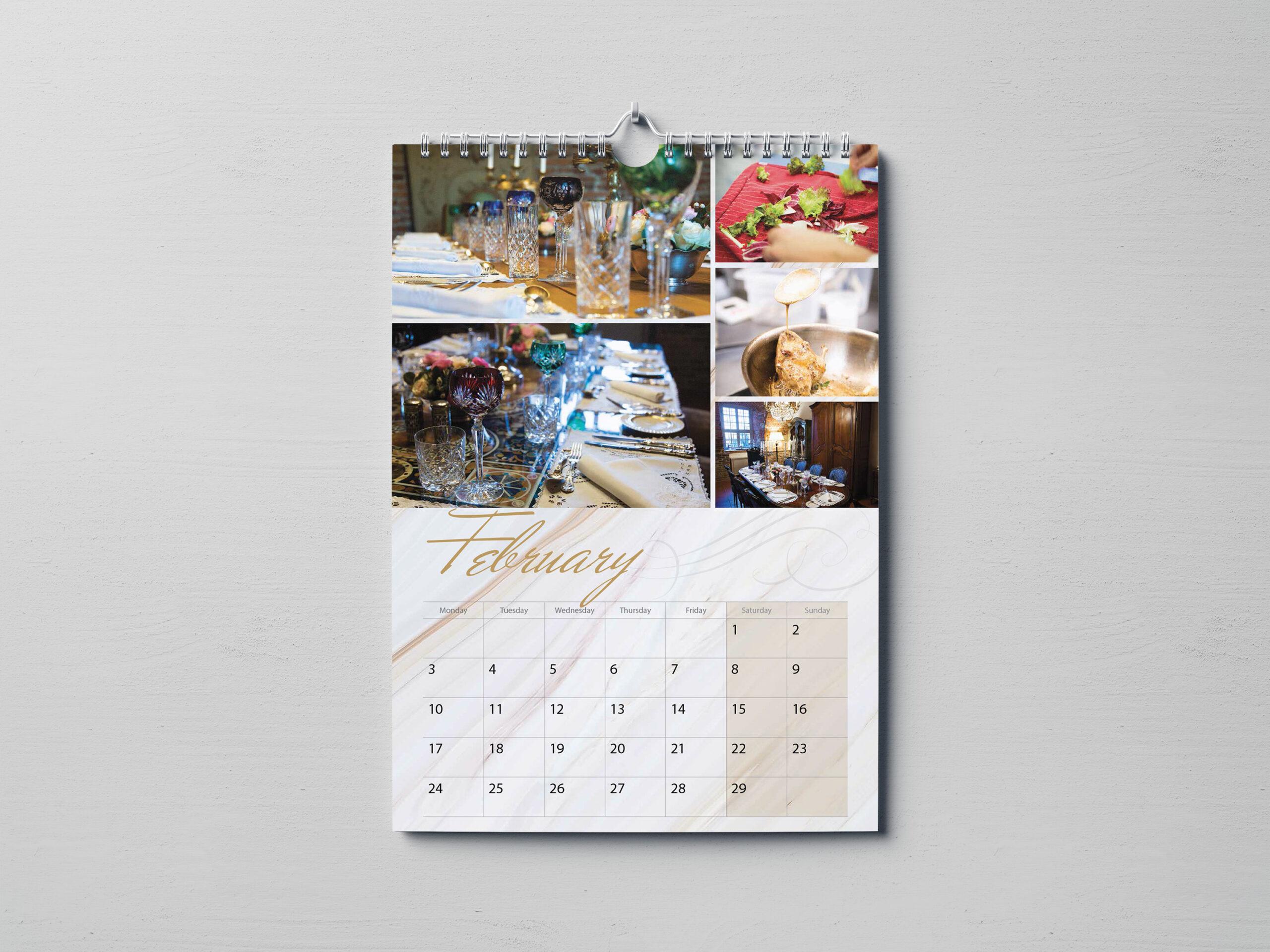 Inside of Castello Di Castleborgne Wiro-bound Calendar on Wall