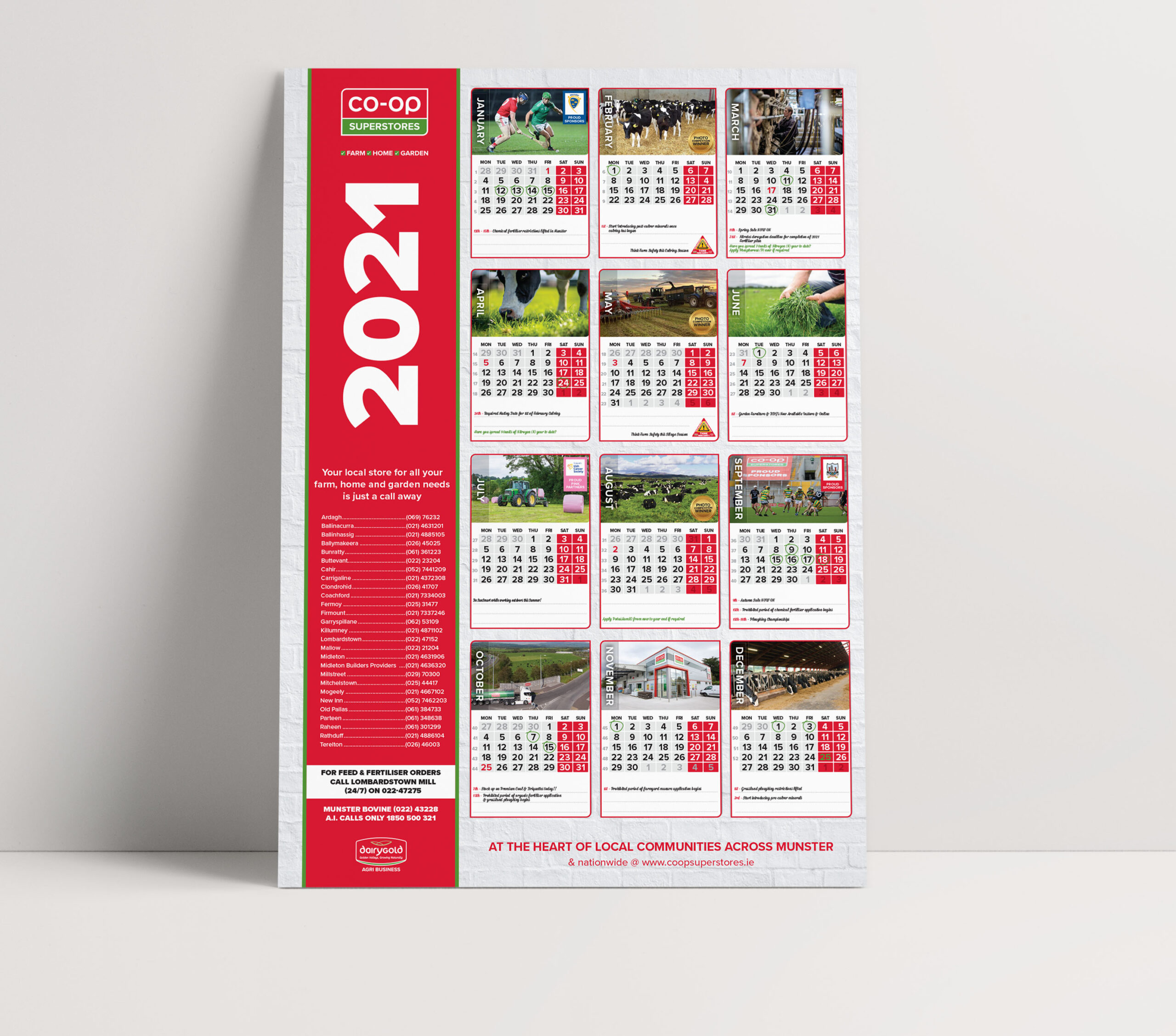 Co-Op Superstores Year to View Calendar