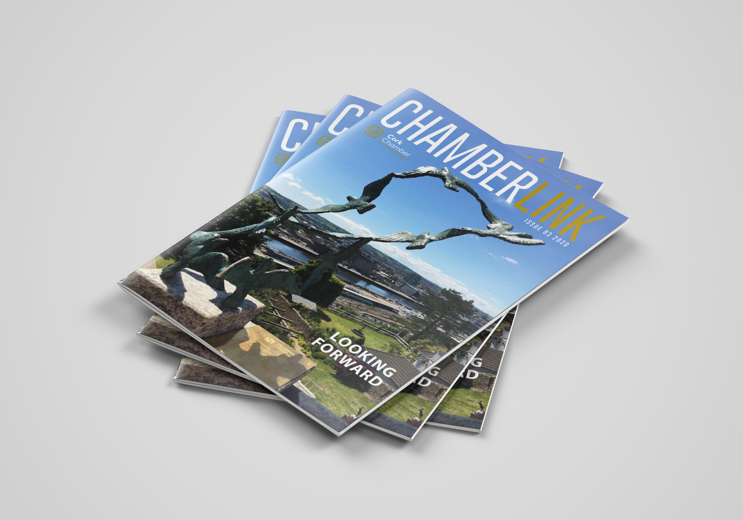 Multiple Covers of of Cahmberlink Magazine