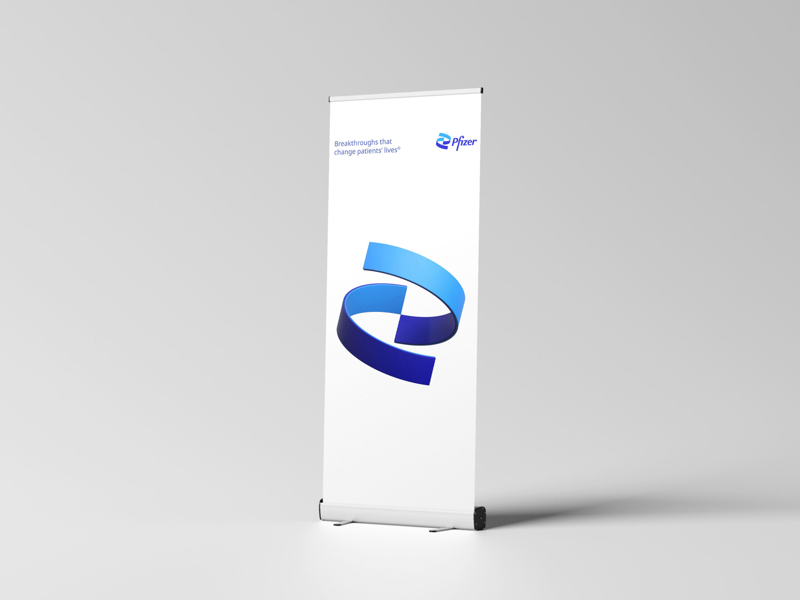 Pfizer Pull-Up Stand