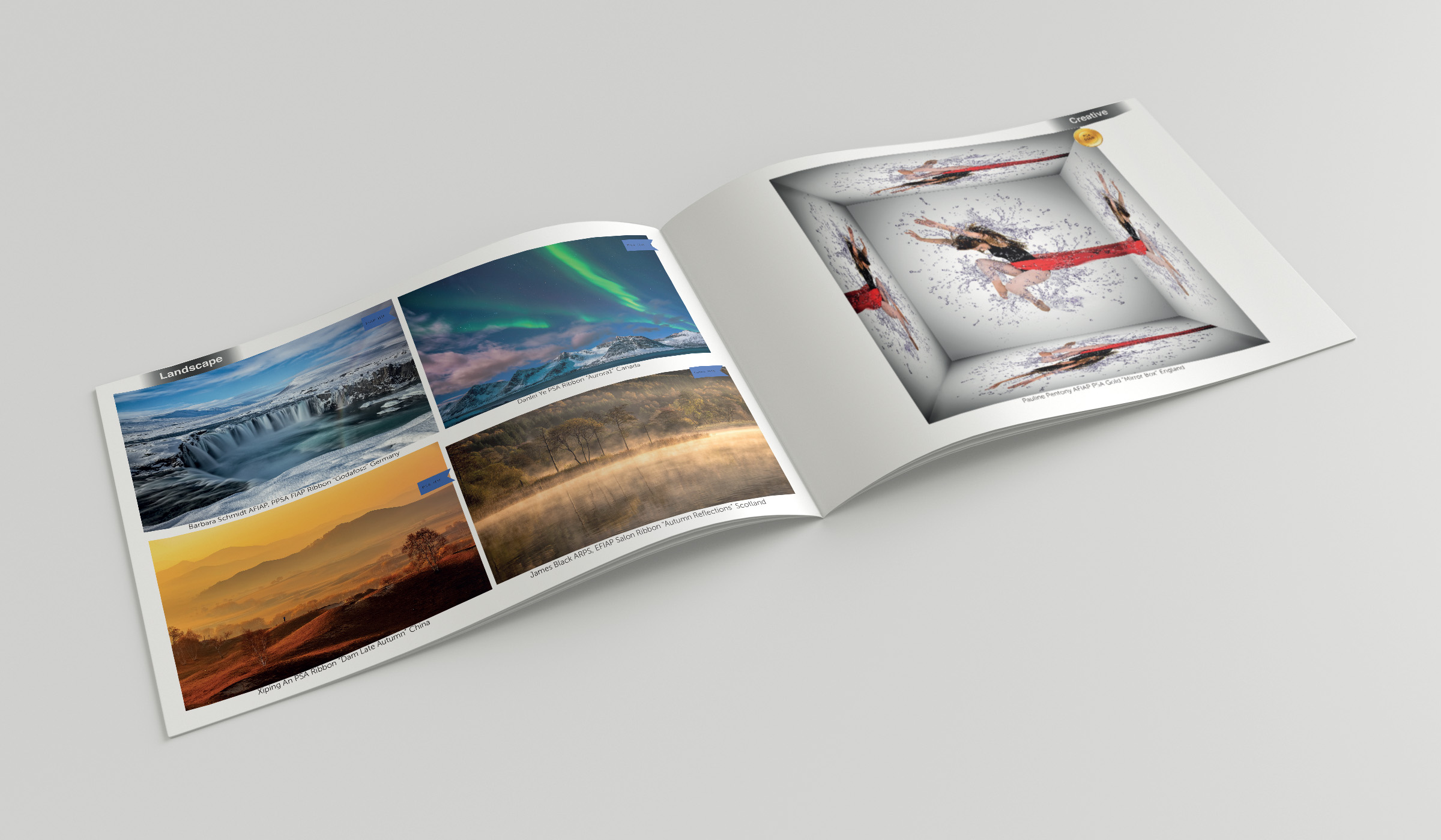 Inside pages of Cork Salon of Photography Book