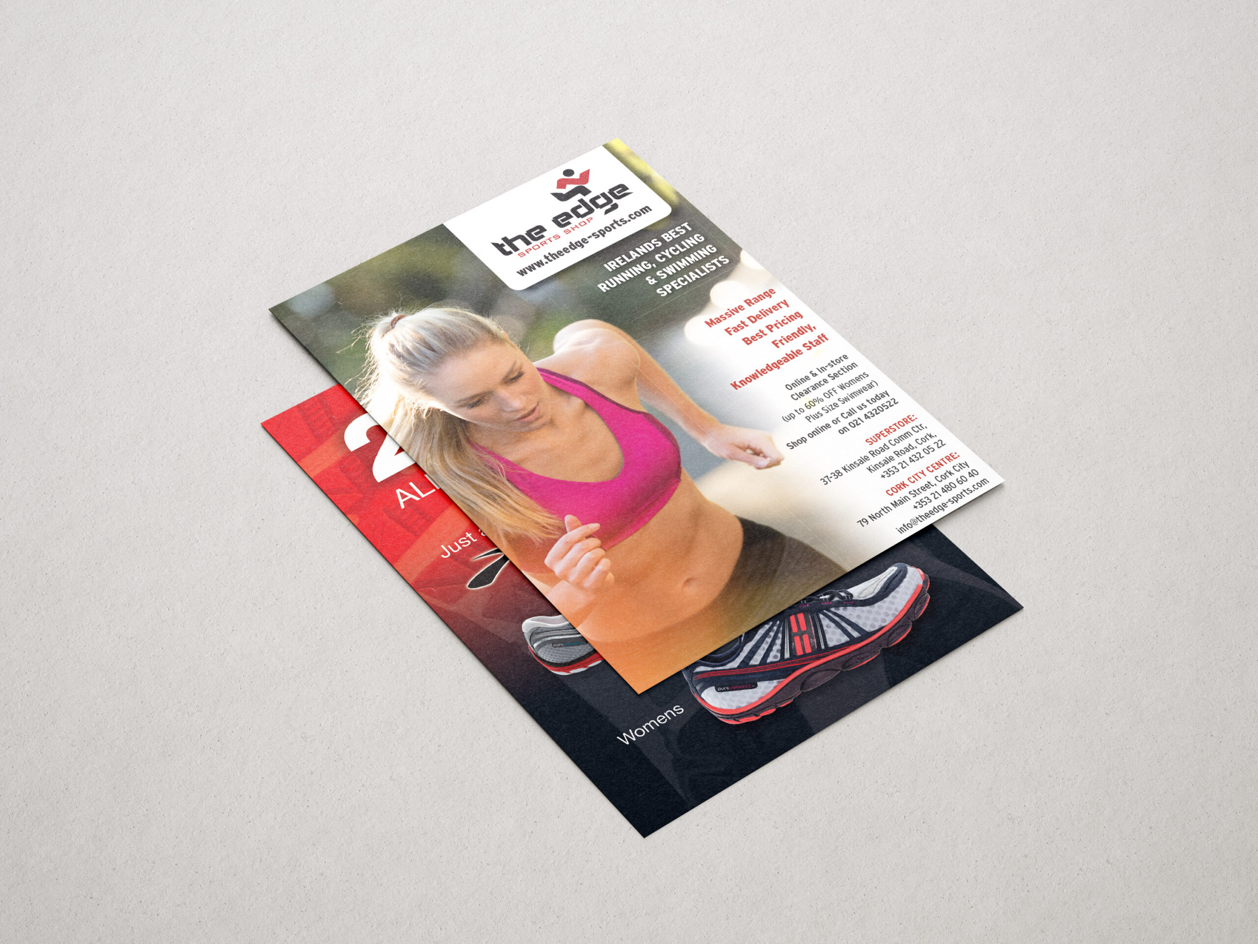 Both sides of an A4 Leaflet for the The Edge