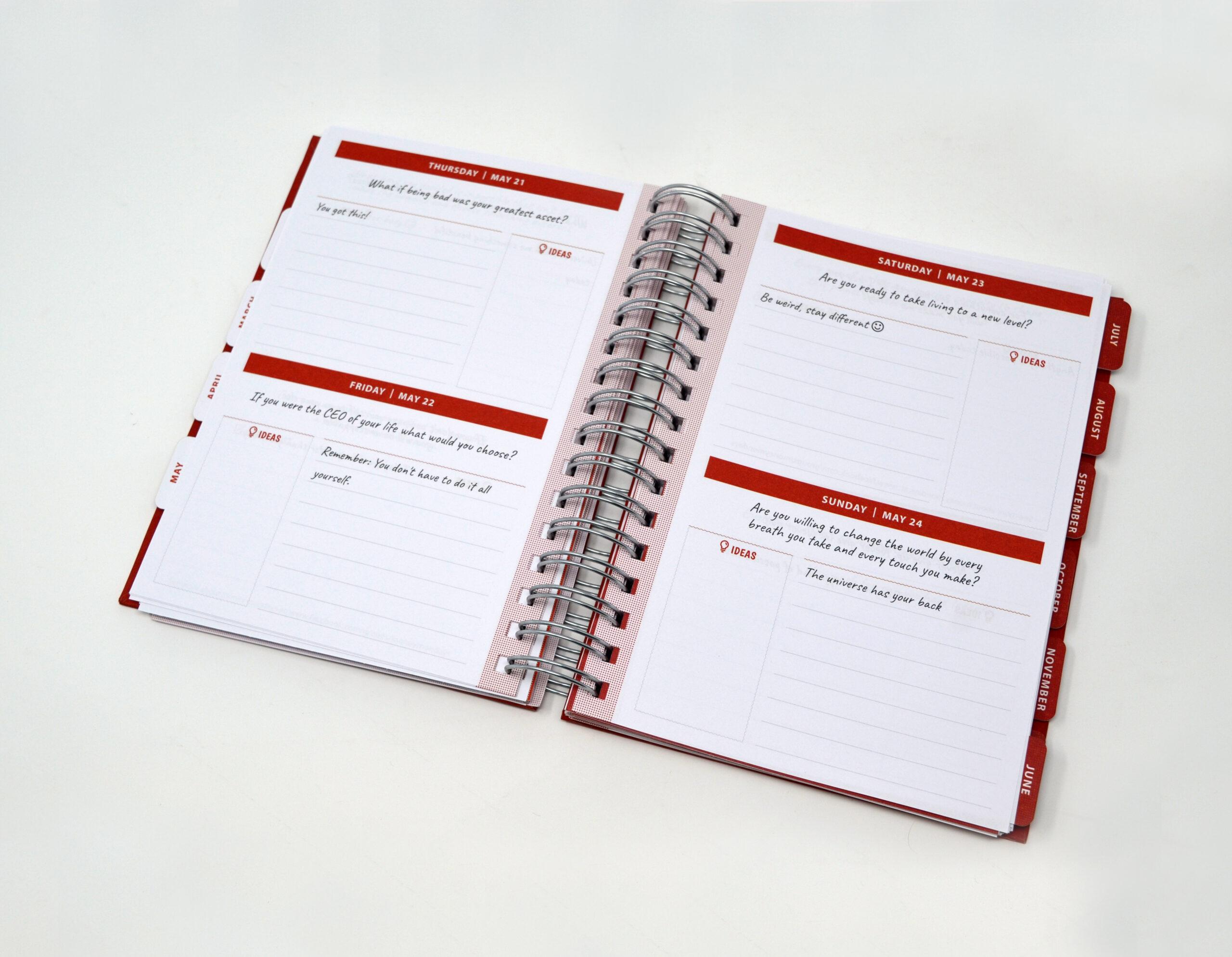 Wiro-bound Diary Inside Spread