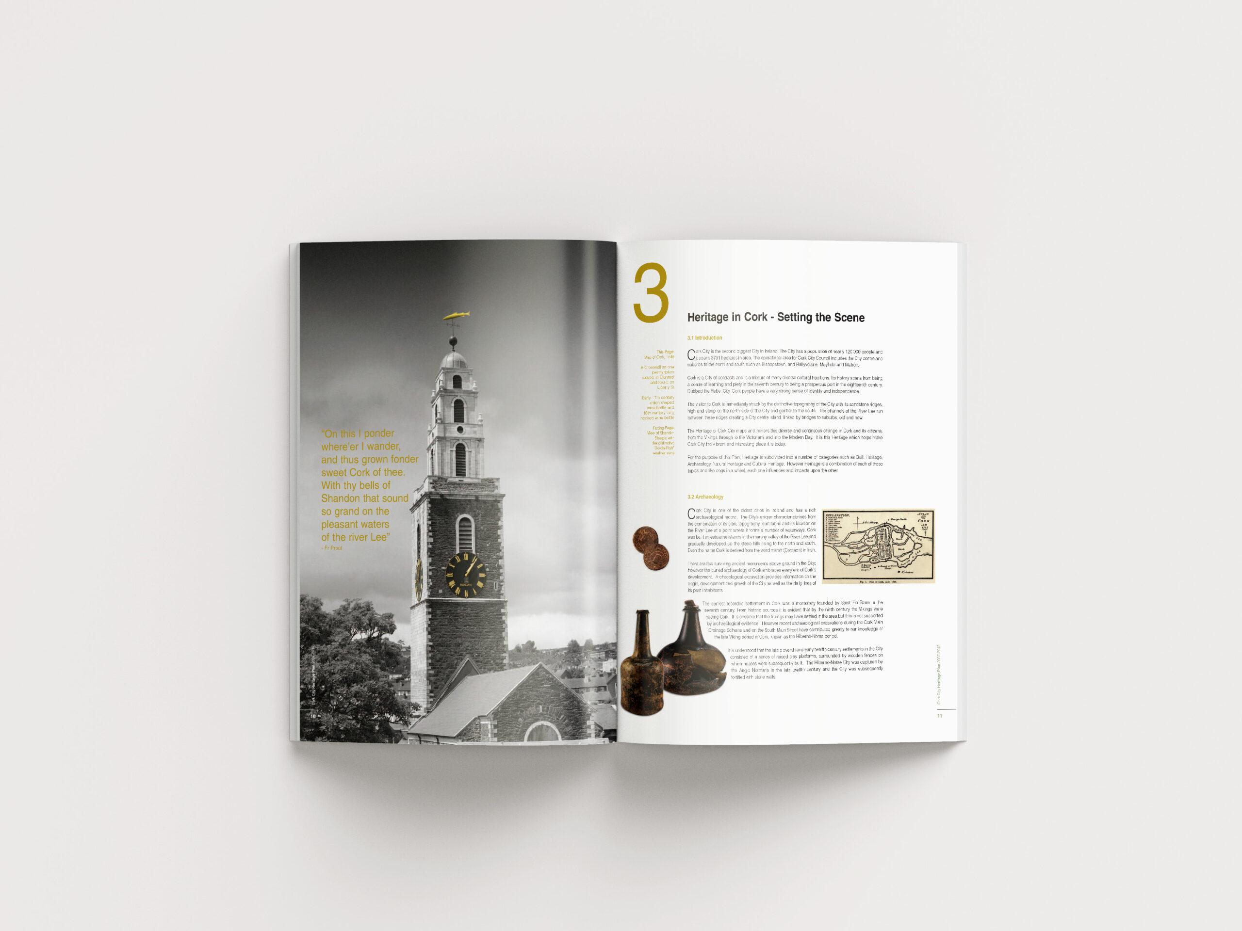 Inside Spread of Heritage Book